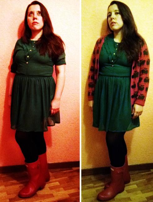 Vestido verde de la Compañía Fantástica