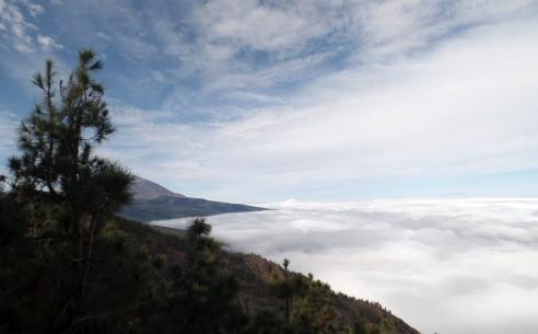En camino hacia el Teide
